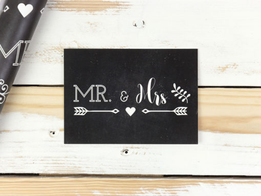 postkarte mr & mrs tafellook