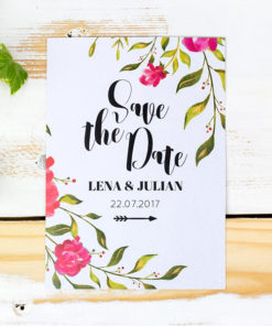 save the date karten hochzeit watercolor