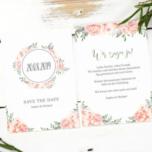 save the date vintage