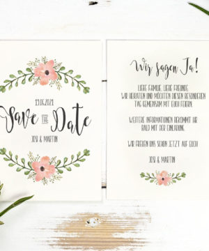 save the date bloomy