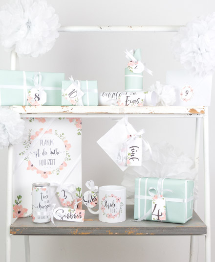 bride to be braut countdown kalender