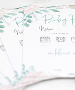 Babypartyspiel Namensraten Babyshower